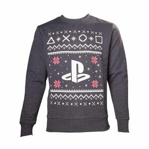 Felpa Playstation. Black Logo Christmas