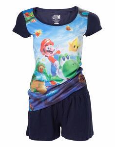 Pigiama Nintendo. Mario and Yoshi All Over Printed Shortama