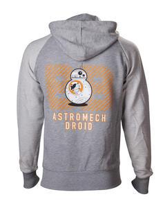 Felpa con cappuccio Star Wars. Grey BB-8 Astromech Droid
