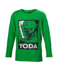 Maglia Manica Lunga Bambino Star Wars. Yoda Green With Lightsaber