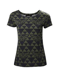 T-Shirt Donna Tg. M Nintendo. Zelda Green Black Hyrule