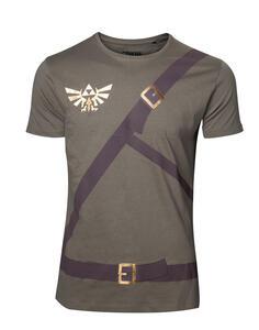 T-Shirt Unisex Tg. L Nintendo. Zelda Link Belt Green