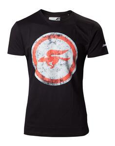 T-Shirt Unisex Nintendo. Black Starfox Black Logo