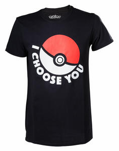 T-Shirt Unisex Pokemon. I Choose You Black