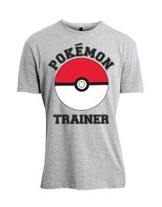 T-Shirt Unisex Tg. M Pokemon. Pokemon Trainer Grey