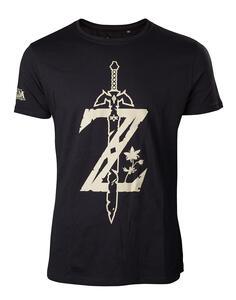 T-Shirt Unisex Zelda. Z With Sword Black