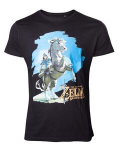 T-Shirt Unisex Tg. M Zelda Breath Of The Wild. Link On Chest