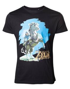 T-Shirt Unisex Tg. L Zelda Breath Of The Wild. Link On Chest