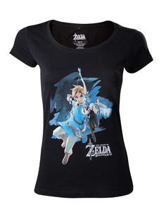 T-Shirt Donna Zelda Breath Of The Wild. Link With Arrow