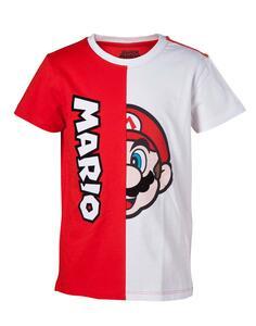 Nintendo. Kids T-Shirt Mario Cut & Sew Print. 98/104 Short Sleeved T-Shirts B Red