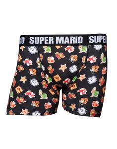 Boxer Tg. XL Nintendo. Super Mario Black