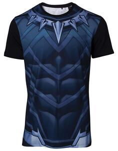 T-Shirt Unisex Tg. XL Marvel. Sublimated Black Panther Black