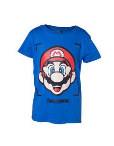 T-Shirt Bambino 86/92 Nintendo. Super Mario Face Blue