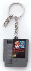 Portachiavi Nintendo. Cartridge 3D Rubber Grey