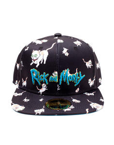 Cappellino Rick And Morty. Cats Aop Snapback Black