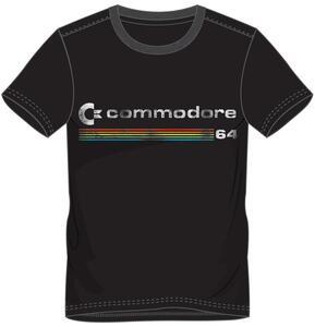 T-Shirt Unisex Tg. L Commodore 64. Logo Black