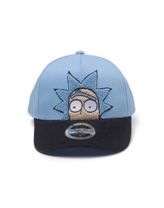 Cappellino Rick And Morty. Rick Chenille 2D Embroidery Curved Bill Adjustable Blue