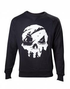 Felpa Unisex Tg. M Sea Of Thieves. Skull Logo Black