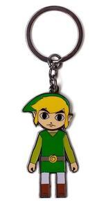 Portachiavi. Zelda Link With Movable Head Metal Multicolor