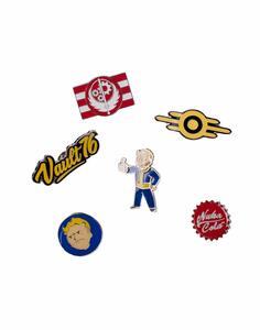 6 Metal Pins Fallout 76 - Multicolor