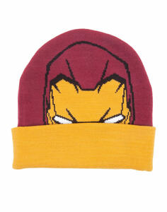 Berretto Capitan America. Beanie with Knitted Pattern