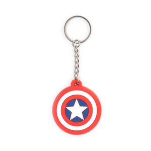 Portachiavi Marvel Comics. Capitan America Shield Logo in Gomma
