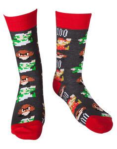 Calzini Nintendo. Mario Pixel Art Socks Multicolor