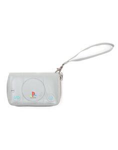 Portafoglio Donna Playstation. Console Zip Around Grey