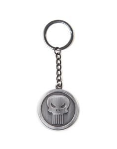 Portachiavi in metallo Marvel. Punisher Silver