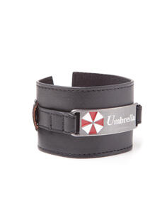 Braccialetto Resident Evil. Wristband With Metal Plate With Umbrella Logo