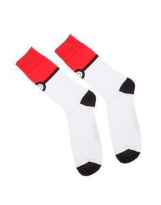 Calzini Tg. 39/42 Pokemon. Pokeball Crew Socks Red And White