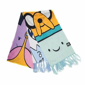 Sciarpa Adventure Time. All Characters Knitted Scarf Multicolor