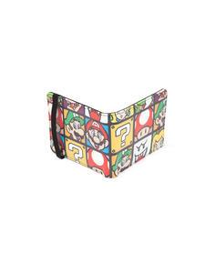 Portafoglio Nintendo. Super Mario Characters Bifold Wallet