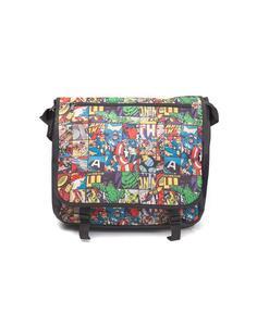 Marvel Comics- All Over Comic Style Messenger Bag Messenger Bags U Multicolor