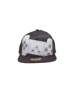 Cappellino Playstation. Controller Snapback With Sublimation Print On Front Caps