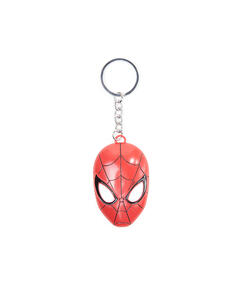 Portachiavi Spider-Man. 3D Metal Mask Keychain Red