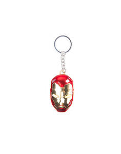 Portachiavi Marvel. Iron Man Mask 3D Metal Keychain Gold