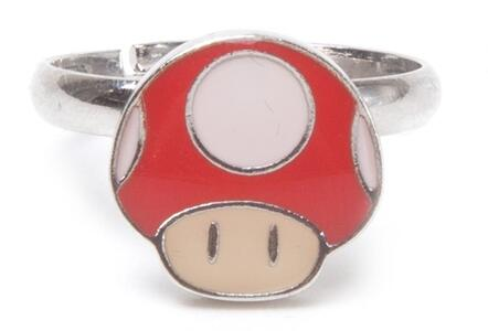 Anello Nintendo. Mushroom Super Mario Ring Green