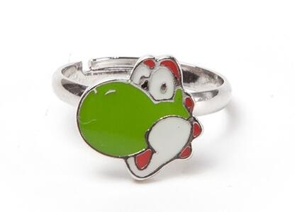 Anello Nintendo. Yoshi Super Mario Green