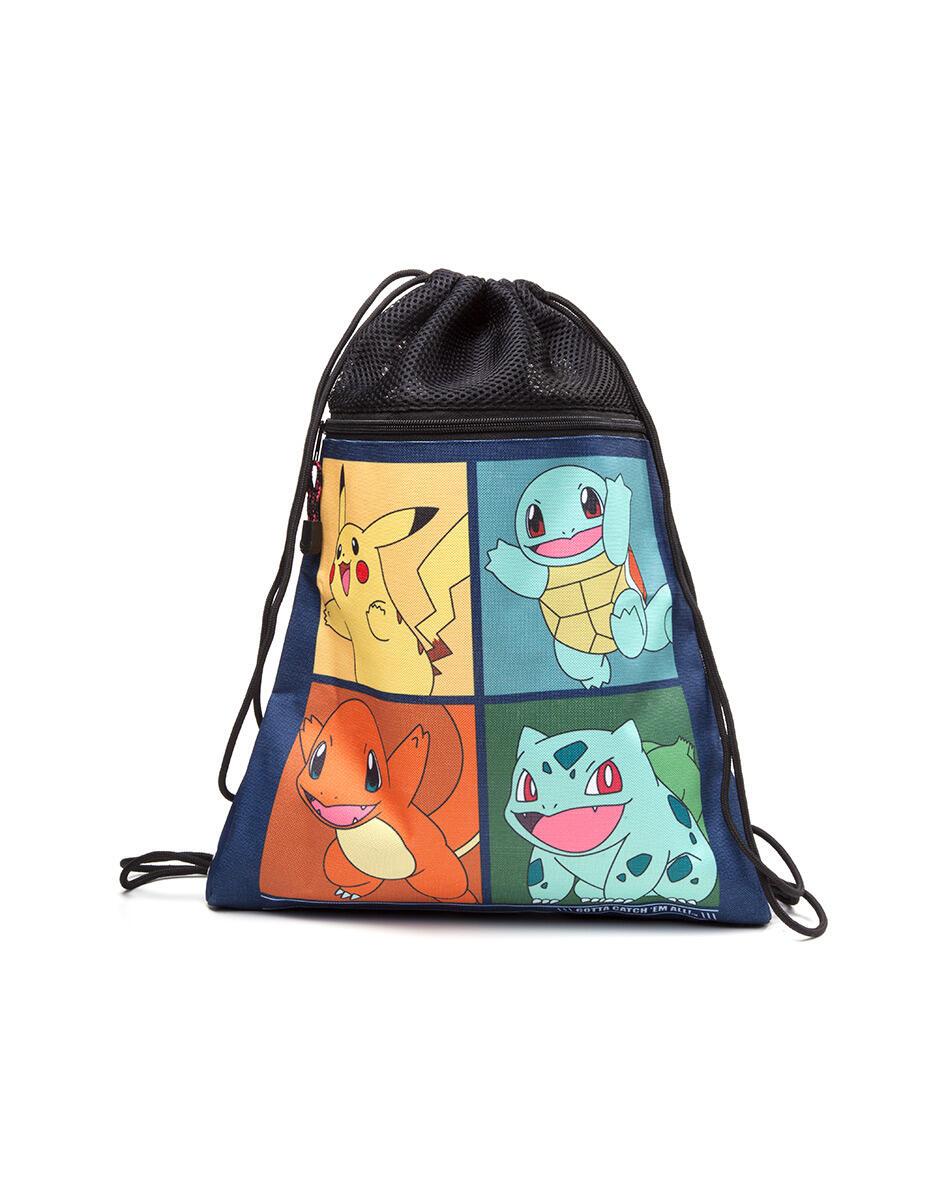 560d9fed2ce3f9 Borsa Pokemon. Pikachu, Bulbasaur, Squirtle, Charmender Gym Bag - Import -  Cartoleria e scuola | IBS