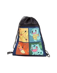 Borsa Pokemon. Pikachu, Bulbasaur, Squirtle, Charmender Gym Bag