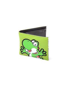 Portafoglio Nintendo. Yoshi Green Textured Bifold