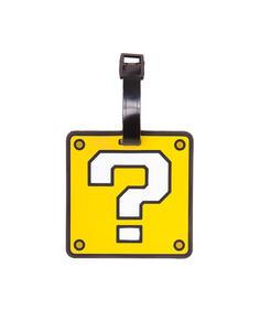Portachiavi Nintendo. Question Mark Rubber Luggage Tag Yellow