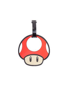 Portachiavi Nintendo. Mushroom Rubber Luggage Tag Red
