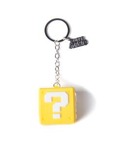 Portachiavi Nintendo. Question Mark Box Rubber 3D Yellow