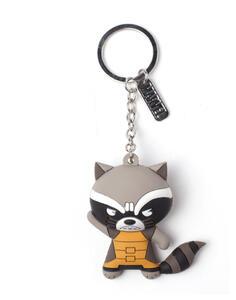 Portachiavi Marvel. Raccoonl Character Rubber 3D Multicolor