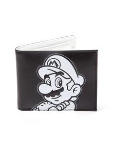 Portafoglio Nintendo. Super Mario Black And White Bifold Black