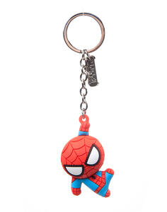 Portachiavi Spiderman. Character 3D Rubber Red