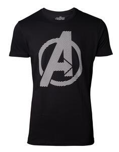 T-Shirt Unisex Tg. L Avengers. Infinity War. Logo Black