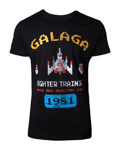 T-Shirt Unisex Tg. XL Arcade Classics. Galaga Vintage Black